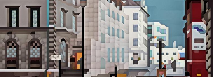 Siggi Eggertsson's lively album art for Apparat Organ Quartet portrays tiny iconographic worlds