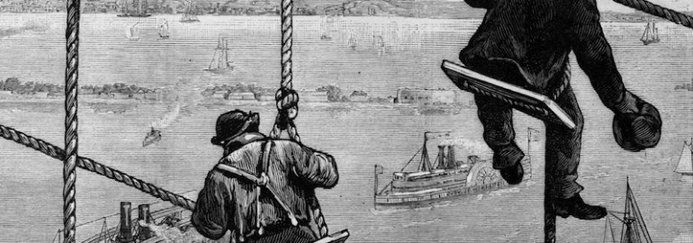 Brooklyn to Manhattan on film: Thomas Edison crosses the Brooklyn Bridge by train