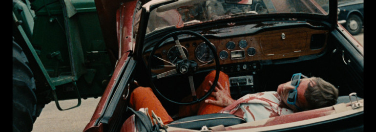 Motorists: beware the mechanical whir of leisure. Criterion Collection's wreckage-filled stills from Weekend