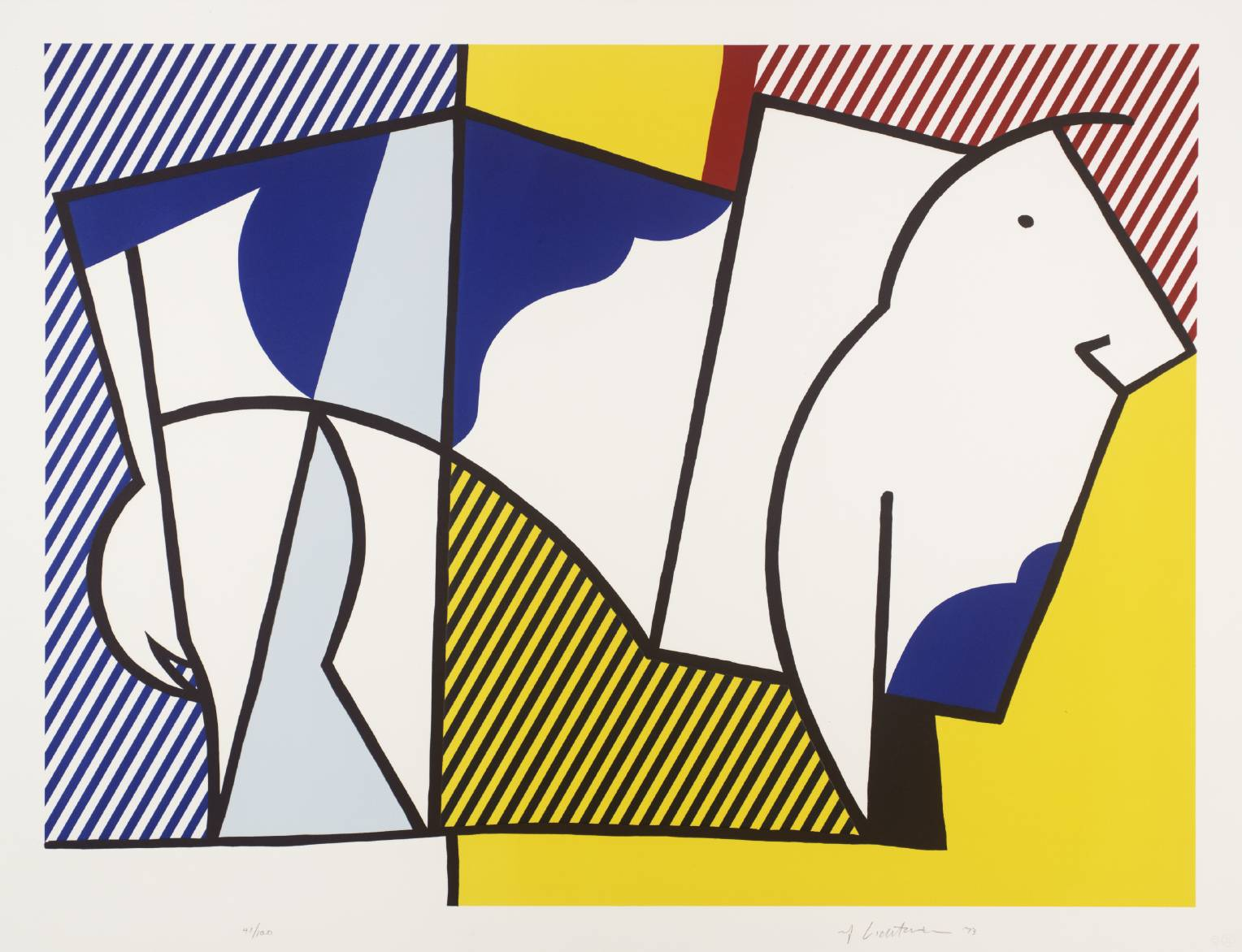 Bull III 1973 by Roy Lichtenstein 1923-1997